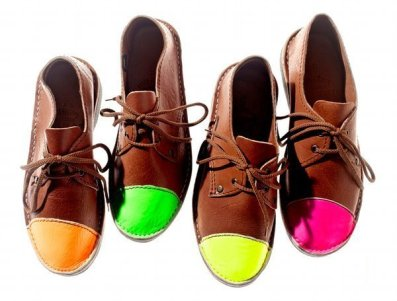 Herbert Shier Neon Toe Shoes